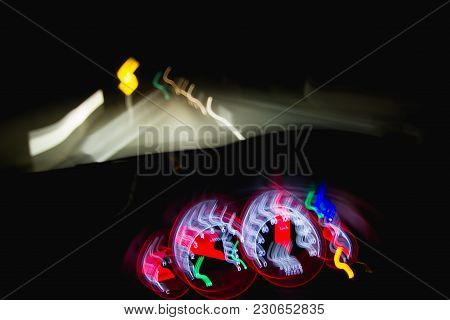 Dangerous Driving At Night While Intoxicated With Blurry Vision