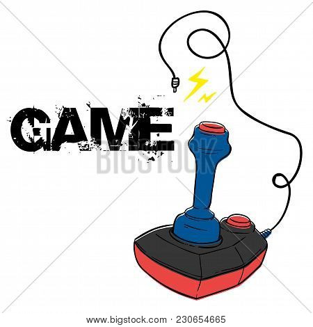 Play Game Joystick White Background Vector Image