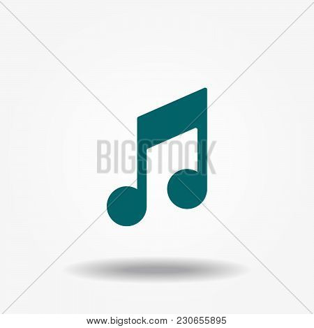 Music Note Icon In Trendy Flat Style Isolated On Background. Music Note Icon Page Symbol For Your We
