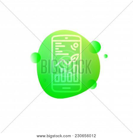 Vector Illustration Of Hi-tech Mobile App Control Icon Isolated On White Background.