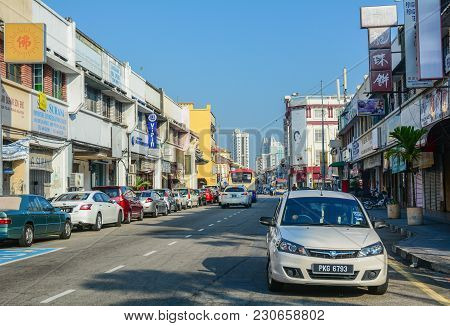 George Town, Malaysia - Mar 10, 2016. Street In George Town, Malaysia. George Town Is One Of The Mos