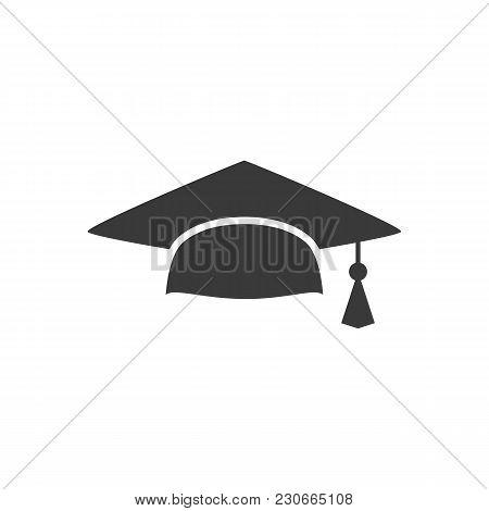 Mortar Board Or Graduation Cap. Educator Graduation Icon, Education Congratulations Vector Template