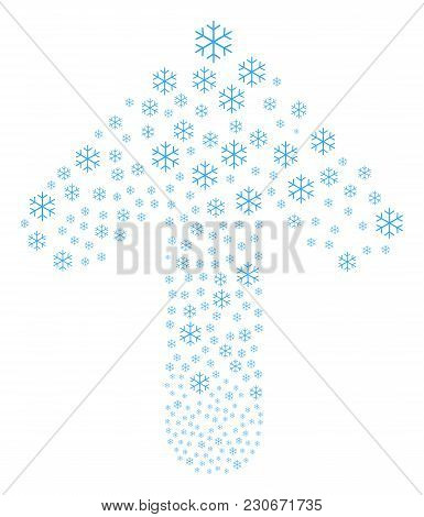 Snowflake Pattern Designed In The Collection Of Ahead Pointing Arrow. Ahead Movement Arrow Figure Co