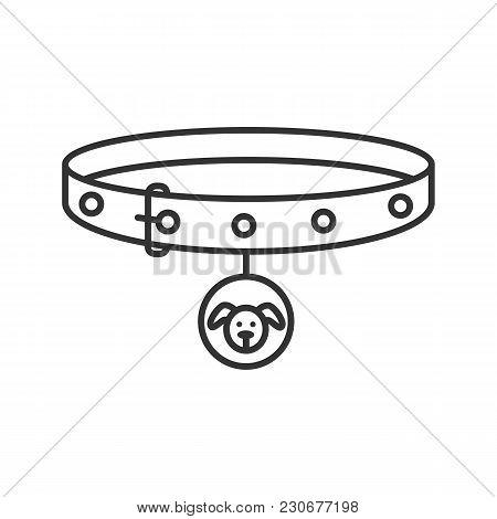 Dog's Neck Collar Linear Icon