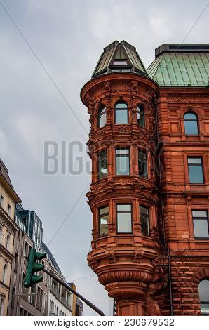 Historical Building In The City Of  Hamburg In Germany