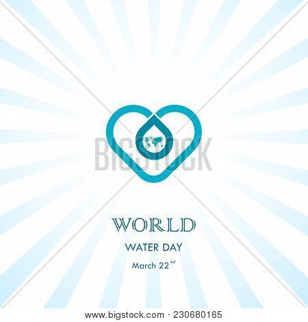 Water Drop With Heart Icon Vector Logo Design Template.world Water Day Icon.world Water Day Idea Cam