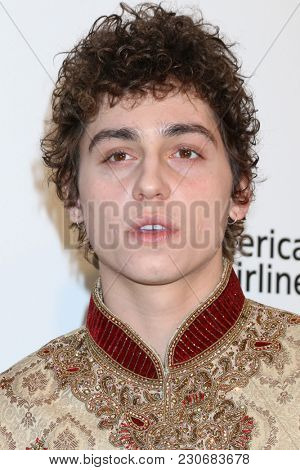 LOS ANGELES - MAR 4:  Josh Kiszka at the 2018 Elton John AIDS Foundation Oscar Viewing Party at the West Hollywood Park on March 4, 2018 in West Hollywood, CA
