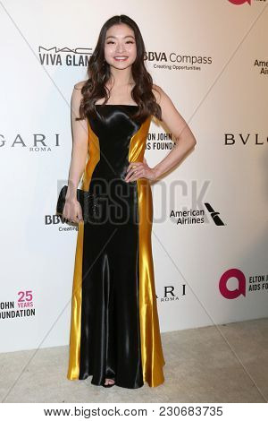 LOS ANGELES - MAR 4:  Maia Shibutani at the 2018 Elton John AIDS Foundation Oscar Viewing Party at the West Hollywood Park on March 4, 2018 in West Hollywood, CA