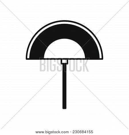 Egyptian Fan Icon In Silhouette Style. Egypt Fan Object Vector Illustration Isolated On White Backgr
