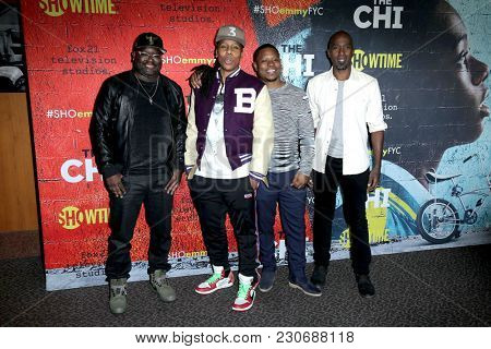 LOS ANGELES - FEB 2:  Lil Rel Howery, Lena Waithe, Jason Mitchell, Ntare Guma Mbaho Mwine at the For Your Consideration Event For
