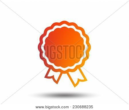 Award Icon. Best Guarantee Symbol. Winner Achievement Sign. Blurred Gradient Design Element. Vivid G