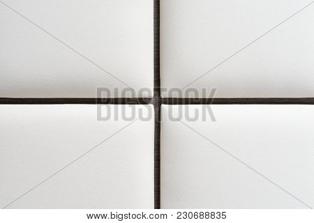 White Luxury Leather Upholstery - Background Texture