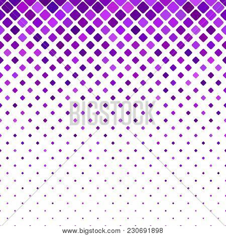 Geometrical Diagonal Rounded Square Pattern Background - Vector Design With Squares In Varying Sizes