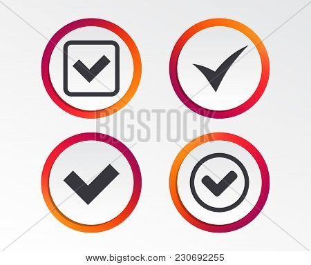 Check Icons. Checkbox Confirm Circle Sign Symbols. Infographic Design Buttons. Circle Templates. Vec