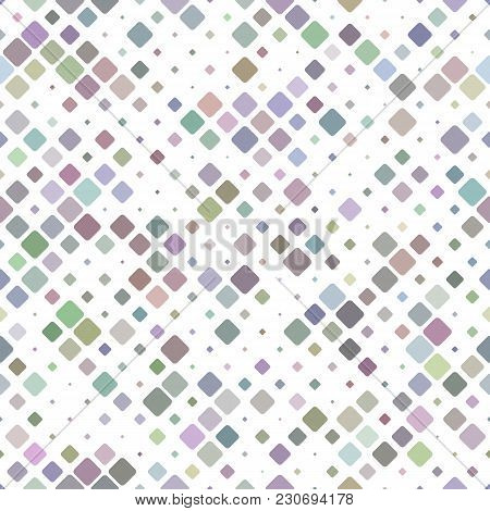 Geometrical Diagonal Square Mosaic Pattern Background - Vector Graphic