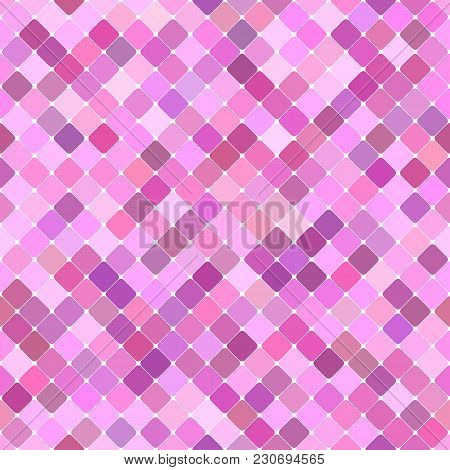Pink Abstract Seamless Diagonal Square Pattern Background Design - Vector Graphic