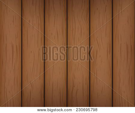 Vector Background With Simple Wooden Planks Texture.