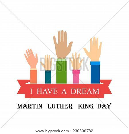 Martin Luther King Day. Vector Illustration Of Stylish Text For Martin Luther King Day Background.