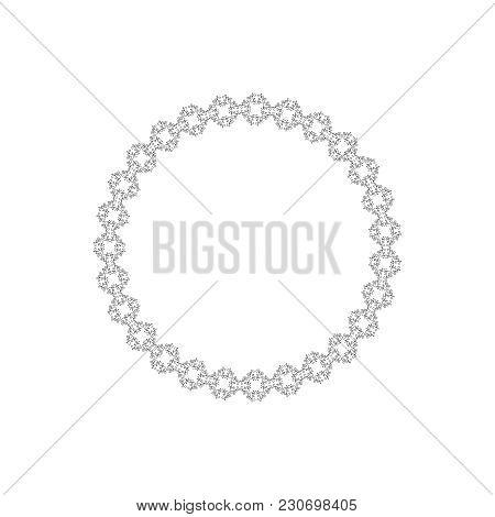 Vector Decorative Frame  For  Greeting, Invitation, Wedding Cards Design.