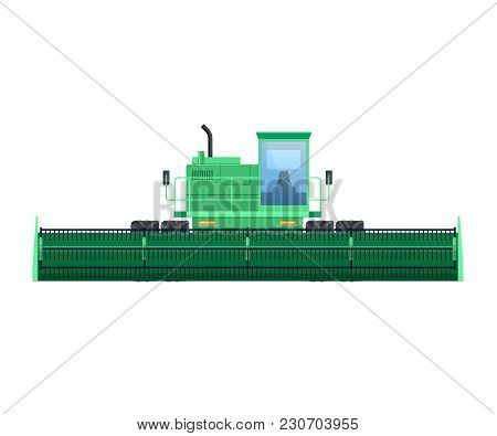 Tractor, Harvester For Grain Harvesting. Combine, Tractor. Agro-industrial Complex, Machinery For Ha