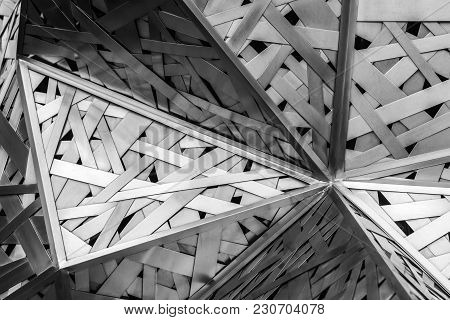 Modern Architecture Black And White Steel, Architectural Design, Architecture Background Concept.