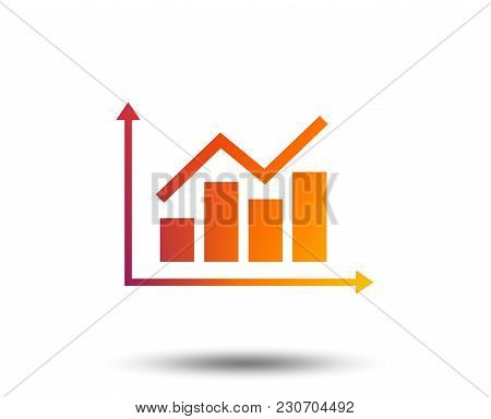 Graph Chart Sign Icon. Diagram Symbol. Statistics. Blurred Gradient Design Element. Vivid Graphic Fl