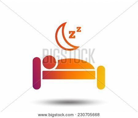 Hotel Apartment Sign Icon. Travel Rest Place. Sleeper Symbol. Blurred Gradient Design Element. Vivid