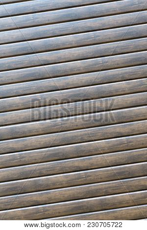 Vintage Brown Barrel Wooden Planks Background Texture With Scratches And Black Stains Over Wood Grai