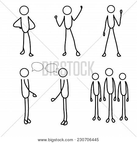 Stick Figure, Stick Man, Stick Men, Stick People, Stick Person, Set Of Stick Men.