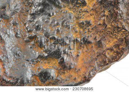 A Meteorite Macro Background Image On White