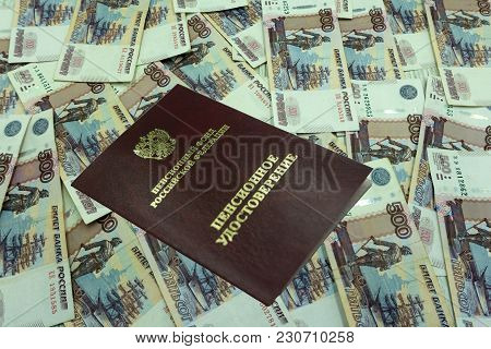 Pension Certificate, Old Photographs And Letters Russians Translation: Russians Federation Pension F