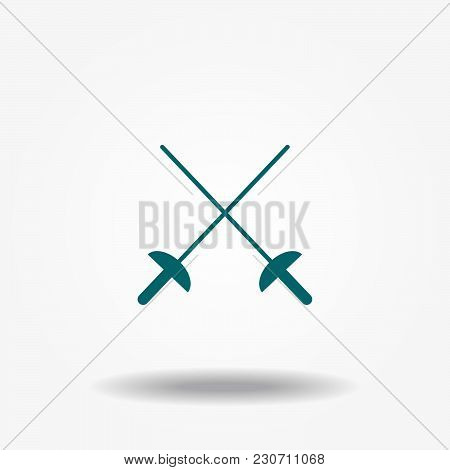Crossed Rapiers, Swords Or Fencing Duel Flat Icon For Games And Websites