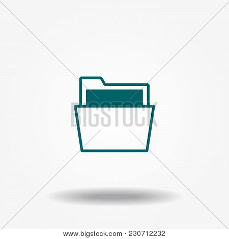 The File Icon. File Symbol. Flat Vector Illustration