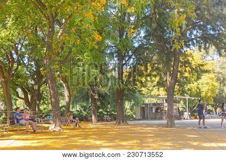 Barcelona- Set 2: Overview Of Citadel Park On September 2, 2017 In Barcelona, Spain. The Parc De La