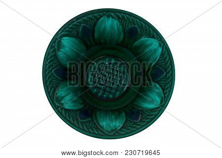 Color Ceramic Plate Clay Plate Blue Plates