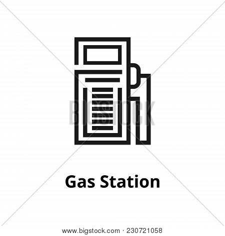 Gas Station Thin Line Icon. Icon For Web And User Interface