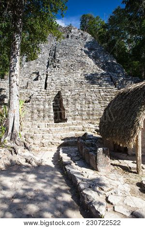 Majestic Ruins In Coba, Mexico. Coba Is An Ancient Mayan City On The Yucatan Peninsula, Located In T
