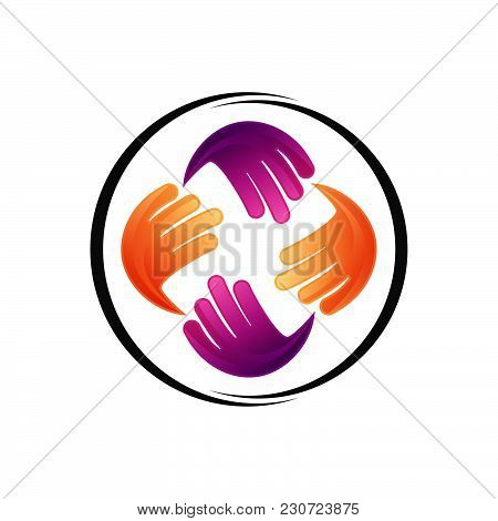 Hand Social Charity Team Logo, Template Logo Hand Social Charity Team, Fund, Association, Community