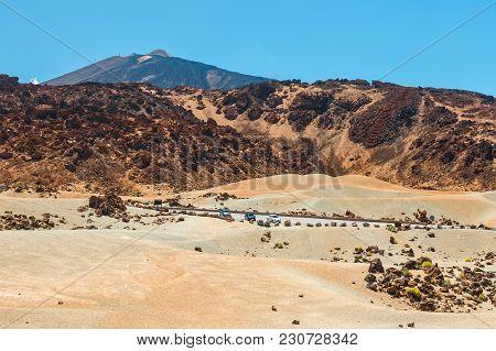 Landscape Of Volcano El Teide In The National Park Of Las Canadas Del Teide