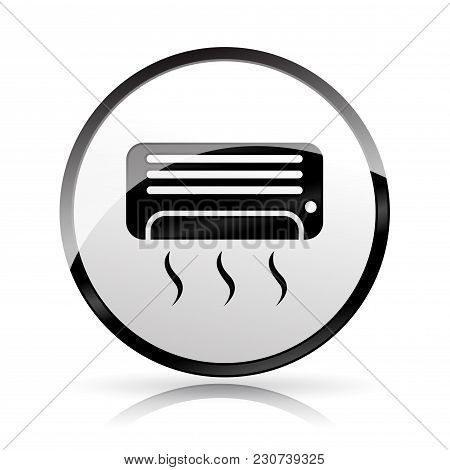 Illustration Of Air Conditioner Icon On White Background