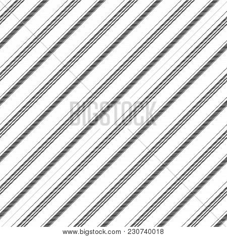 Abstract Black White Diagonal Texture Seamless Pattern. Vector Illustration.