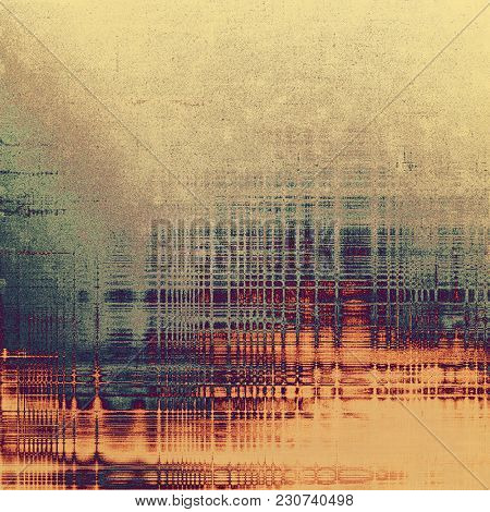 Grunge aging texture, art background. With different color patterns