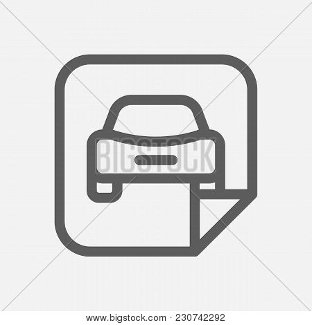 Car Badge Icon Line Symbol. Isolated Vector Illustration Of  Icon Sign Concept For Your Web Site Mob
