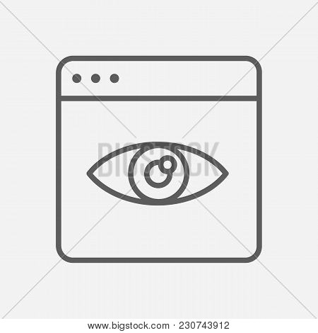 Page View Icon Line Symbol. Isolated  Illustration Of  Icon Sign Concept For Your Web Site Mobile Ap