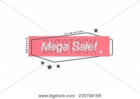 Limited Offer Mega Sale Banner. Sale Poster. Big Sale, Special Offer, Discounts, 60 Off. Vector Illu