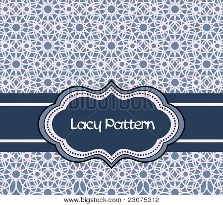 Lacy Pattern with label poster