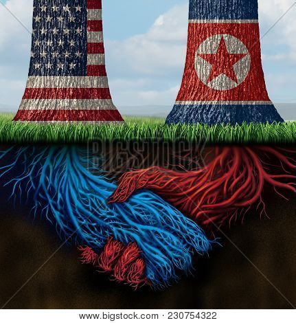 Usa North Korea Agreement And American And North Korean Diplomacy Between Pyongyang And Washington A