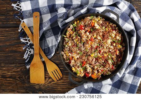 Shredded Juicy Beef And Long Grain Rice