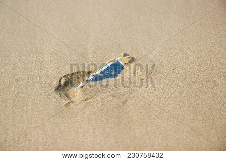 Mobile Phone Floated To The Sea At The Beach.