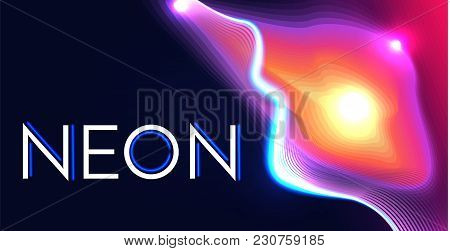 Abstract Geometric Background In 80th Style With Light, Geometric And Motion Elements. Vector Illust